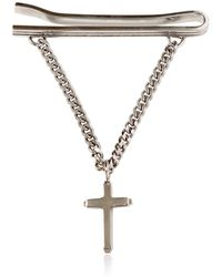 Givenchy - Cross Charm Metal Tie Clip - Lyst