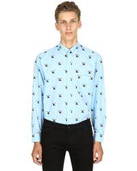 Burberry - Camicia In Popeline Di Cotone - Lyst