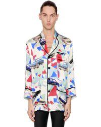 Garçons Infideles - Viscose & Silk Satin Pajama Shirt - Lyst