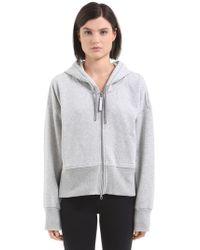 adidas By Stella McCartney - Essentials Hooded Cotton Sweatshirt - Lyst