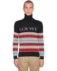 "Loewe - Pullover Aus Wollmischjacquard """" - Lyst"