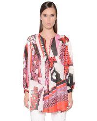Just Cavalli | Printed Silk Chiffon Top | Lyst