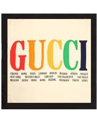 Gucci - Logo Silk Twill Scarf - Lyst