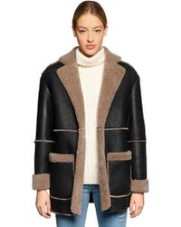 Forte Couture | Blazer Shearling Fur Coat | Lyst