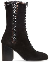 Laurence Dacade - 85mm Suzy Lace-up Suede Boots - Lyst