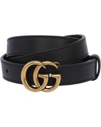 Gucci - 20mm Gg Marmont Leather Belt - Lyst