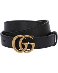 Gucci - 15mm Gg Marmont Leather Belt - Lyst