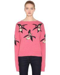 Prada - Orchid Intarsia Cashmere &wool Jumper - Lyst