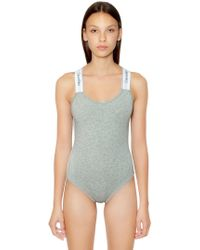 Calvin Klein - Unlined Cotton Blend Jersey Bodysuit - Lyst