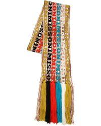Missoni - Logo Wool Blend Knit Scarf - Lyst