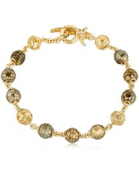 Marco Dal Maso - Fu Pyrite Beaded Bracelet - Lyst