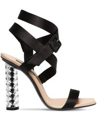 Diego Dolcini - 105mm Juliette Baccarat Silk Sandals - Lyst