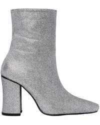 Dorateymur - 90mm Glitter Fabric Ankle Boots - Lyst