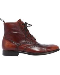 Rolando Sturlini - Wing Tip Washed Leather Boots - Lyst