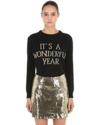 Alberta Ferretti - Happy New Year Knit Sweater - Lyst
