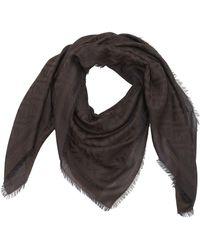 Fendi - Ff Signature Cotton & Wool Blend Scarf - Lyst