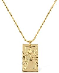 Northskull - Rose Engraved Pendent Chain Necklace - Lyst