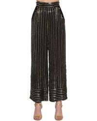 Temperley London - Sequined Wide Leg Pants - Lyst