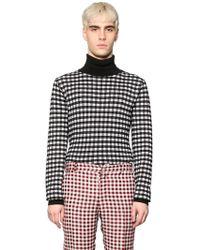 Au Jour Le Jour - Gingham Wool Turtleneck Sweater - Lyst