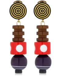 Missoni - Graphic Modernist Resin Drop Earrings - Lyst
