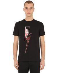 Neil Barrett - Slim Fit Printed Cotton Jersey T-shirt - Lyst