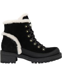 Tory Burch - 30mm Cooper Suede & Shearling Boots - Lyst