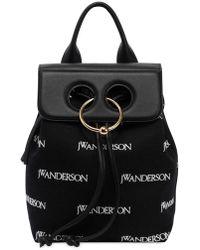JW Anderson - Mini Pierce & Logo Canvas Backpack - Lyst