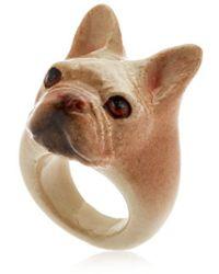 Nach | Beige French Bulldog Ring | Lyst