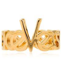 Versace - Vintage Logo Ring - Lyst