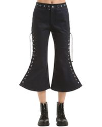 Angel Chen - Flared Lace-up Cropped Pants - Lyst