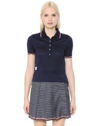 Thom Browne | Cotton Piqué Polo Shirt | Lyst