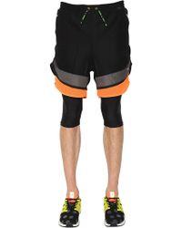 adidas Originals - Film Yarn & Mesh Layered Running Shorts - Lyst