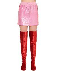 Alberta Ferretti - Two Tone Sequined Mini Skirt - Lyst