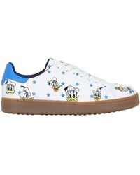 MOA - Donald Duck Embroidered Leather Sneakers - Lyst
