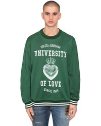 Dolce & Gabbana - University Of Love Print Jersey Jumper - Lyst