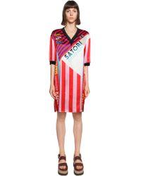 KENZO - Satori Printed Silk Satin Dress - Lyst