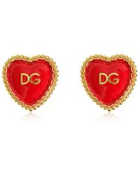 Dolce & Gabbana - Dg Heart Clip-on Earrings - Lyst