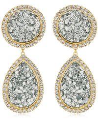 Shourouk - Shimer Silver Clip-on Earrings - Lyst