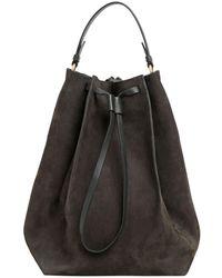 Maison Margiela - Large Nubuck Leather Bucket Bag - Lyst