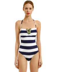 Albertine - Carmen Striped One Piece Swimsuit - Lyst