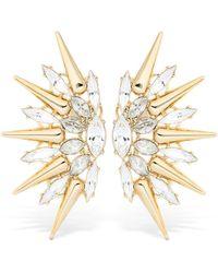 Anton Heunis - Crystal Spike Earrings - Lyst