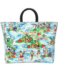DSquared² - Hawaii Printed Canvas & Pvc Tote Bag - Lyst