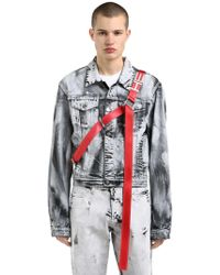HELIOT EMIL - Black Ashes Hand-painted Denim Jacket - Lyst