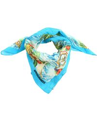 DSquared² - Hawaii Printed Cotton Scarf - Lyst