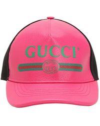 Gucci - Vintage Logo Leather Trucker Hat - Lyst