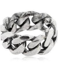 Emanuele Bicocchi - Chain Silver Ring - Lyst