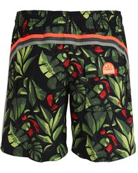 Sundek - Jungle Print Nylon Swim Shorts - Lyst