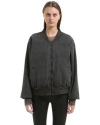 Yeezy - Washed Cotton Canvas Bomber Jacket - Lyst
