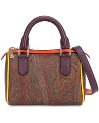 Etro - Paisley Printed Faux Leather Bag - Lyst