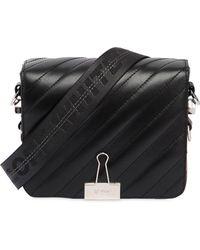 Off-White c/o Virgil Abloh - Quilted Stripes Leather Shoulder Bag - Lyst